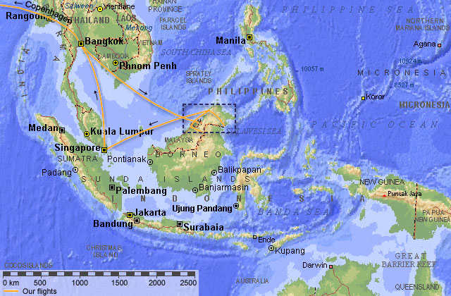 Borneo 2001 Map I Southeastern Asia